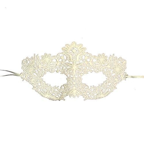 Samantha Peach Ivory Lace Coachella Masquerade Mask