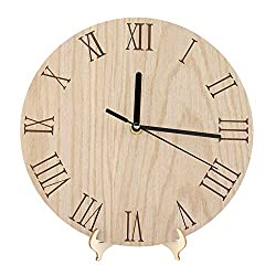 Classic Wall Clock,Ancient Roman Numeral Wooden Decorative Clock Decor,Garden Hallway Creative Hanging Wall Clock for Room,Office,etc(23cm/9.05inch)