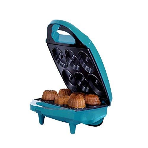 Mini Bundt Cake Maker, Modern Kitchen Contemporary Bundt Cake Toaster, Blue Finish Cake Maker & E-Book