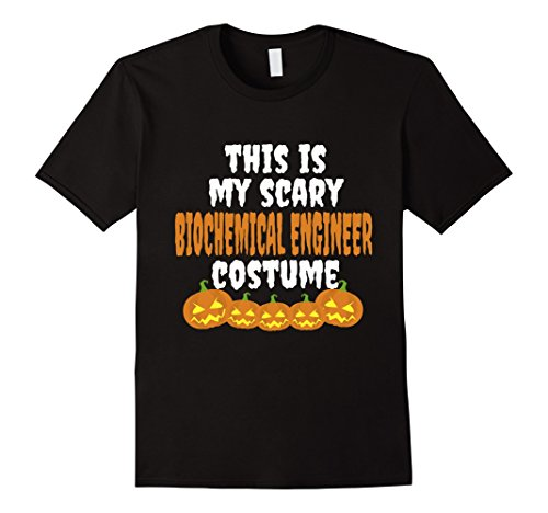 Friend Costumes Best And Guy Girl (Mens My scary Biochemical Engineer costume funny Halloween tshirt 2XL)