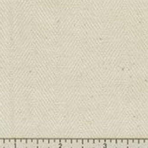 Organic Cotton Herringbone Colorgrown Fabric Natural Color