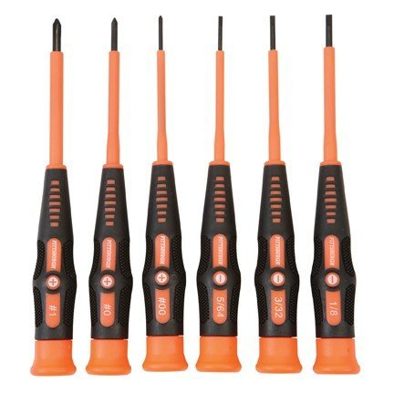 6 Piece Electrician's Micro Screwdriver Set by Pittsburgh Pro