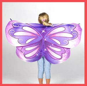 Cozy Wings by Jay at Play Purple Butterfly - Wrap Around Magic Wings Keep Kids Warm & Cozy for Naptime, Playtime, or Anytime – Size Fits Most Kids ()