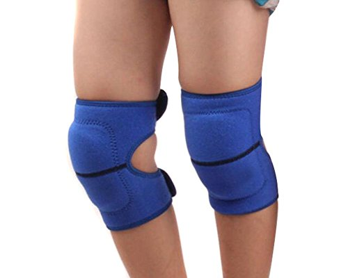 1 Pair(2PCS) Children Sports Knee Pads- SBR Sleeve Sports Sponge Knee Brace Support Guards Protector For Kids by Elandy