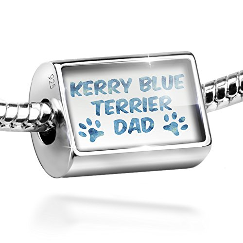 Blue Kerry Dog Charm Terrier (Sterling Silver Bead Dog & Cat Dad Kerry Blue Terrier Charm by NEONBLOND)
