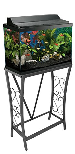 Aquatic Fundamentals AMZ-102102 10 Gallon Aquarium Stand, Black