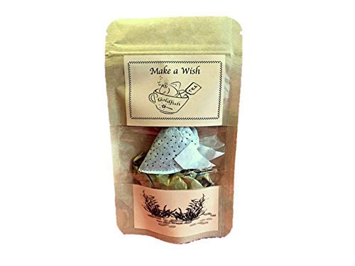 (Personalized gift, ONE Goldfish tea bag, Make a Wish, CEYLON BLACK TEA & ROSE PETALS, Small gift for friend, Birthday gift, Lucky Fish, Good Luck gift,Tea gift for colleague)