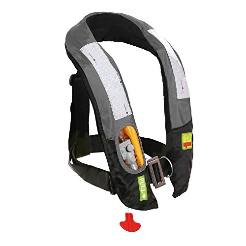 (Eyson Inflatable Life Jacket Life Vest Highly Visible Automatic (Grey))