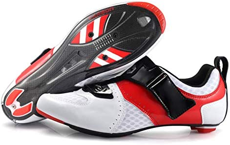 XUJINGJIE Zapatilla de Ciclismo Carretera Zapatillas Ciclismo MTB Ligeras y Transpirables Zapatillas de Bicicleta MTB para Hombres y Mujeres,A,42(UK8): Amazon.es: Hogar