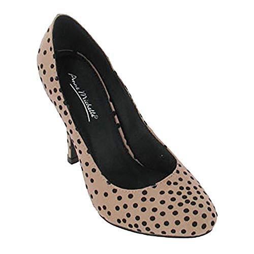 Carne De Estampado Michelle Zapatos Lunares Anne Para Con Mujer w47Uqv8n
