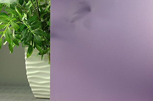 Purple Frosted, Decorative, Privacy, Static Cling Window Film (35''x 25ft) by Window Film and More