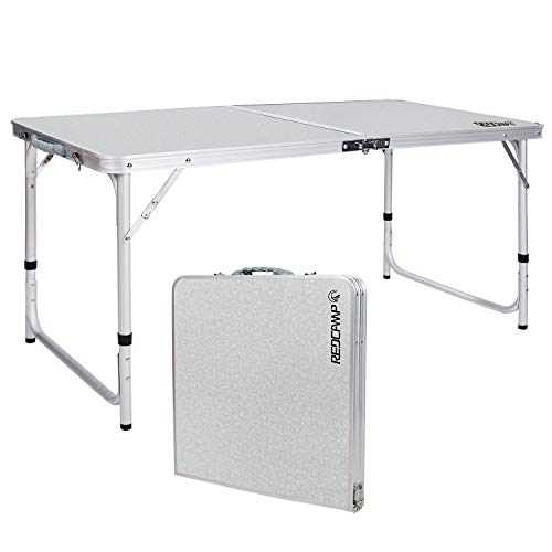Aluminum folding table perfect for the campground