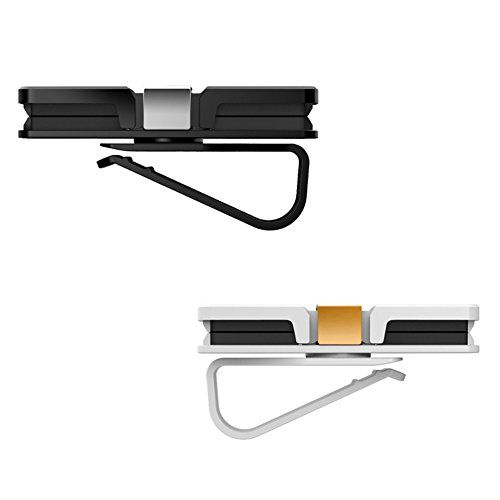 HaloVa Car Glasses Holder, Car Visor Sunglasses Ticket Clip Holder, Double Sunglasses Mount Eyeglasses Clip Cash Money Card Holder for Auto Sun Visor/Air Vent