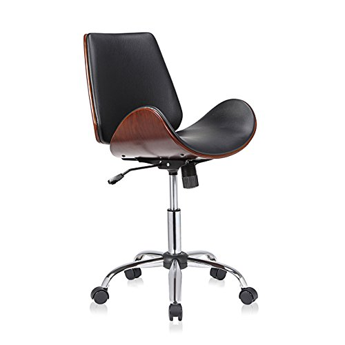 Bürostuhl antik  MY SIT Office Swivel Stool backrest wheels adjustable vintage ...