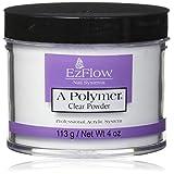 EZ FLOW A Polymer False Nails, Clear, 4 oz.