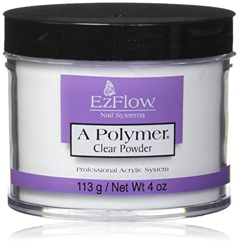 EZ Flow A Polymer Clear False Nails, 4 - Powder Acrylic Ezflow