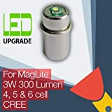 MagLite LED Conversion/upgrade bulb for MagLite Torch/flashlight 4D/4C, 5D, 6D Cell CREE XP-G2 CNC