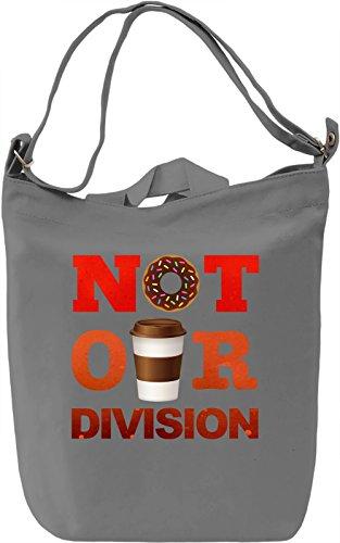 Not Our Division Borsa Giornaliera Canvas Canvas Day Bag| 100% Premium Cotton Canvas| DTG Printing|