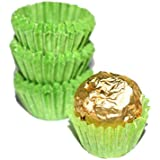 Glassine Chocolate Green Paper Candy Cups No.3 - 0.8''x3/4'' - Green - 200pcs