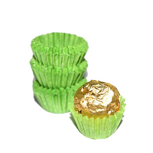 Glassine Chocolate Green Paper Candy Cups No.3-0.8''x3/4'' - Green - - Green Candy Cups