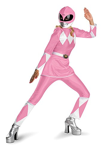 Adult-Costume Power Ranger Pink Adult Halloween Costume - Adult 12-14