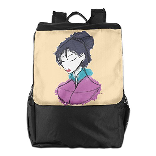 ROTATEL Hua Fa Mulan China Legendary Woman Warrior Shoulder Bags Backpack For Men & Women Teens College Rowing ()