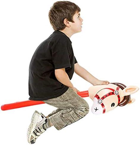 Crabitin インフレータブルスティック 馬ヘッドスティック テーマパーティー 装飾 耐久 パーティーおもちゃ 誕生日 応援グッズ 1ピース