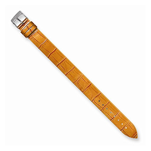 Alligator Texture Patent Finish - Perfect Jewelry Gift Moog Orange Alligator Texture Patent Finish Calf Lthr Watch Band