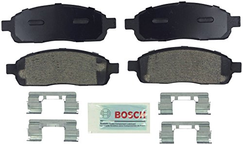 Bosch BE1011H Blue Disc Brake Pad Set with Hardware for Select Ford F-150, F-250 and Lincoln Mark Lt Trucks - FRONT