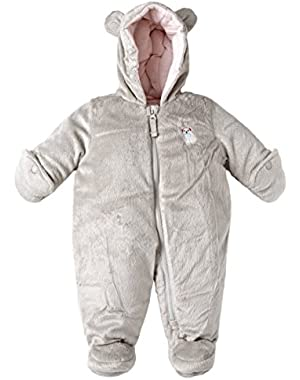 Baby Ultra Plush Furry and Fleece Warm Winter Snowsuit Bunting