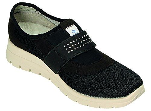 Zapatos Flot Cordones Para Negro De Mujer Fly 85xw1CUqF