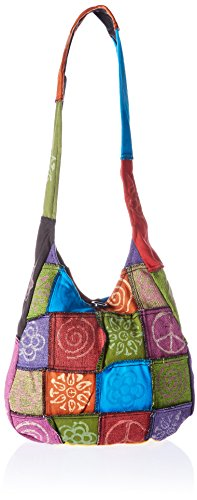 Patchwork Handbag Purse - Forum Novelties Hippie Peace Hand Bag