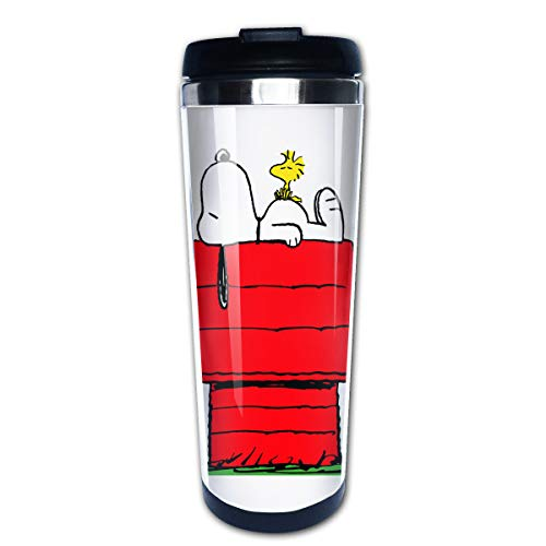 (Lojaon Coffee Cup Tumbler Mug 304 Stainless Steel Liner,Snoopy Sleep Above The Red House Fashion Office Mug 400 Ml Water Bottles Portable Thermos Vacuum Flask)