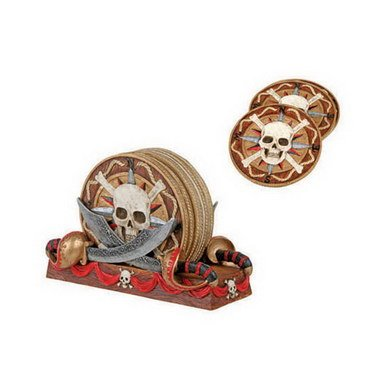 Pirate Skeleton Figurine (Coaster-Pirate Skull Collectible Figurine)