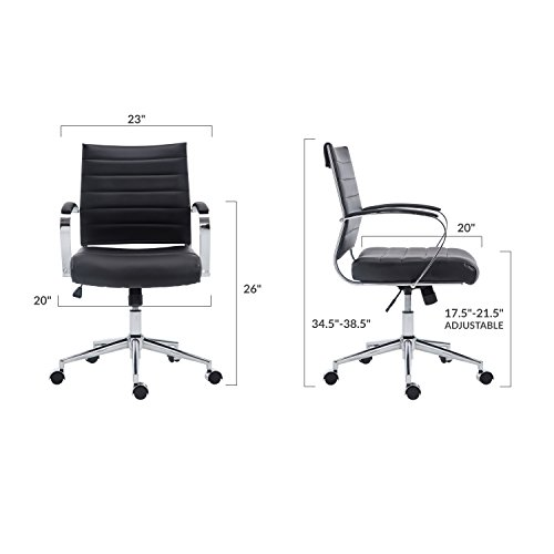 Poly and Bark Tremaine Office Chair in Vegan Leather, for sale  Delivered anywhere in USA