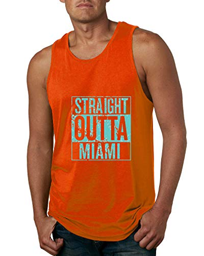 (Wild Bobby Straight Outta Miami MIA Fan | Fantasy Football | Mens Sports Graphic Tank Top, Orange, Medium)