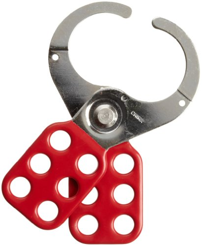 Brady Steel Lockout Hasp with Vinyl-Coated Handle, 1-1/2'' Inside Jaw Diameter by Brady