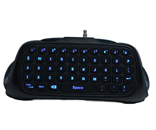 LED Chat Pad Keyboard for PS4, PS4 Pro, PS4 Slim Controllers – Backlit & Wireless