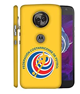 ColorKing Football Costa Rica 07 Yellow shell case cover for Motorola Moto X4