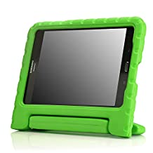 MoKo Samsung Galaxy Tab A 8.0 Case - Kids Shock Proof Convertible Handle Light Weight Super Protective Stand Cover Case for Samsung Galaxy Tab A 8.0 inch Tablet SM-T350, GREEN (With S-pen Opening)
