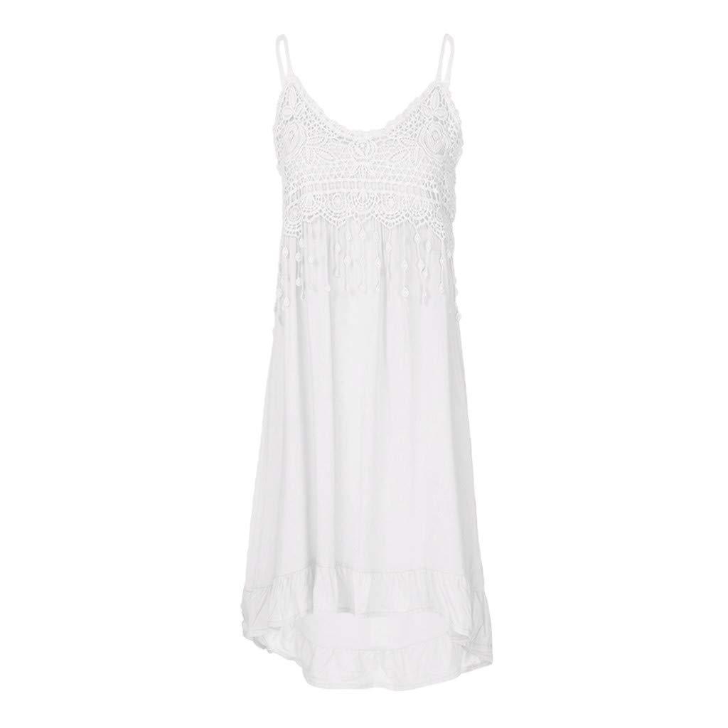 Sommer Spitze Patchwork Boho Sommerkleid Damen Hanomes Elegante Mini Kleid Einfaches Solid Party Kleid Elegante Party Kleid Casual Sommerkleid Oversize Ballonkleid S-XXXXXL