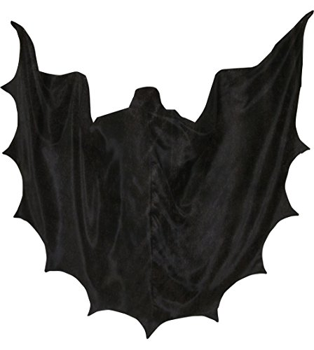 Newdeve Halloween Cloak With Hood Black Cape Bat Jackets For Adults (5XL) (Devo Halloween Costume)