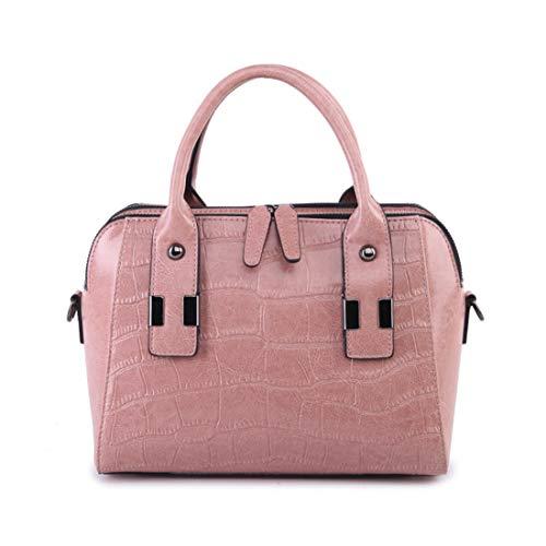 En Véritable Sacs Pour À Sac Femme Main Main Houyazhan Cuir Pink Pink color Bandoulière Ft6wRHKx