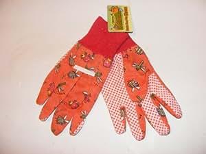 Junior jardinero–guantes de jardinería de Easy Grip, rosso