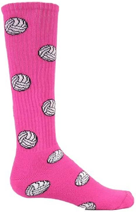 Neon Solid Knee High Volleyball Socks Neon Pink