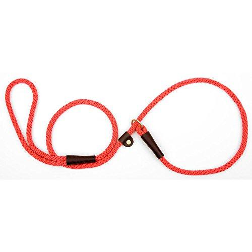 - Mendota Pet British Style Slip Leash, 1/2-Inch by 4-Feet, Red
