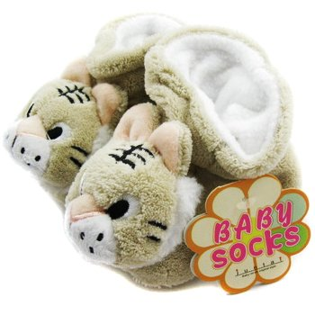 KF Baby Animal Soft Sole Booties, for 3-12 Months - Tiger