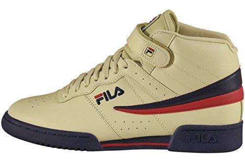 Fila Men's F-13V Fila Cream/Navy/Red Sneaker Shoes Sz. 9
