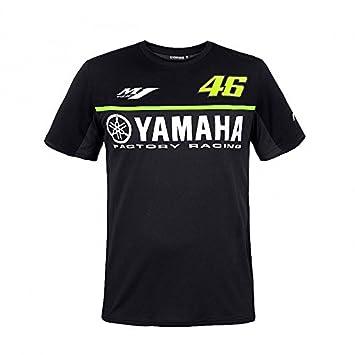 Valentino Rossi VR46 Moto GP M1 Black Line Yamaha Camiseta Oficial 2017: Amazon.es: Deportes y aire libre
