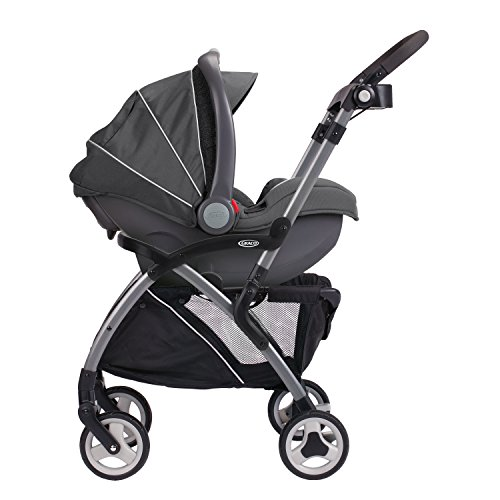 41m8TSFbYWL - Graco SnugRider Elite Car Seat Carrier | Lightweight Frame Stroller | Travel Stroller Accepts Any Graco Infant Car Seat, Black